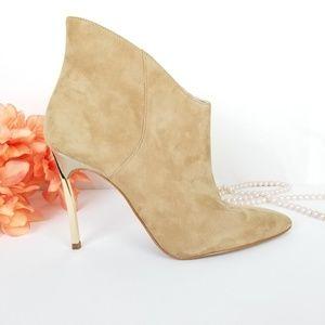 Enzo Angiolini Gold Stiletto Heel Bootie SZ 7M